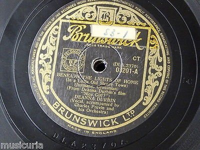 78rpm DEANNA DURBIN beneath the lights of home / thank you america (Deanna Durbin Beneath The Lights Of Home)