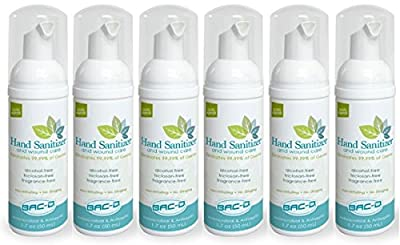 BAC-D 609 Alcohol Free Hand Sanitizer and Wound Care, 1.7 oz. (Pack of 12)