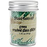 Stampendous Glass Glitter 1.45 Ounce-Green