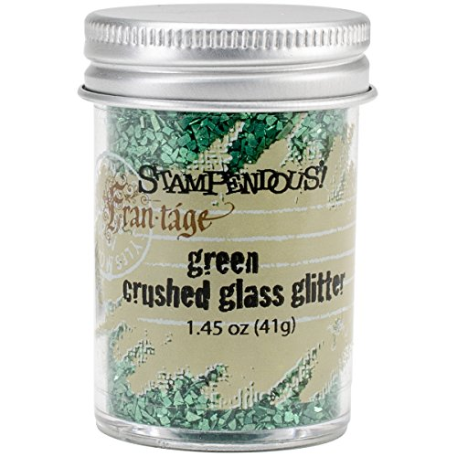 - Stampendous Glass Glitter 1.45 Ounce-Green