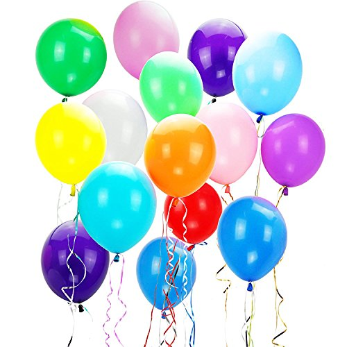 NormCorer Wholesale 600Pcs 16 Colors Party Balloons 12 Inches Rainbow Set - Customize Logo with Lowest Price Best for Company - Made With Strong Latex For Helium (16 Assorted Color, 600Pcs) -