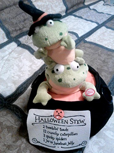 Hallmarks Two Frogs In A Kettle Halloween Animated Plush