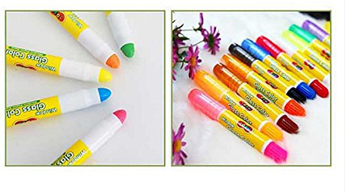 Toru Window Glass Color Crayon Marker Washable Paper Aqua Non-toxic 12 Colors by Toru (Image #4)