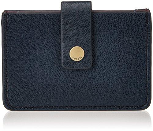 Fossil Mini Tab, Women's Wallet, Blau (Midnight Navy), 1.905x6.68x10.16 cm (B x H T) ()