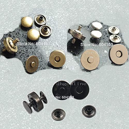(Maslin 100 Sets Magnetic Snap 18mm 3/4