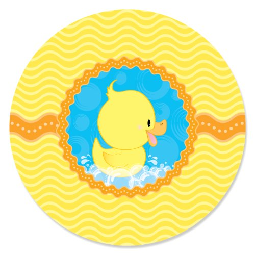 Ducky Duck - Party Circle Sticker Labels - 24 Count
