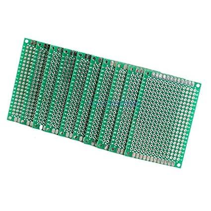 2PCS Double Side Prototype PCB Bread board Tinned Universal 4x6 cm 40x60 mm FR4