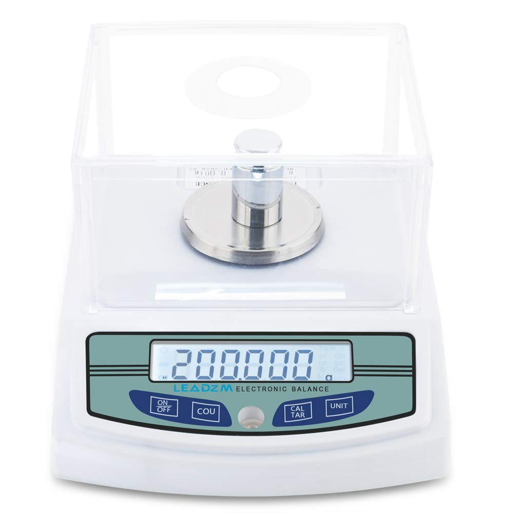 300G/0.001G Electronic Experiment Balance with Battery Digital Precision Scale Lab Analytical Balance Top Quality by QJR