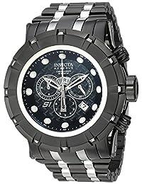 Invicta Men's Reserve Black Steel Bracelet & Case Swiss Quartz Analog Watch 16760