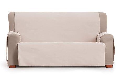 Jarrous Funda Cubre Sofá Práctica Modelo Gijon, Color Beige-01, Medida 4 Plazas – 190cm de Respaldo
