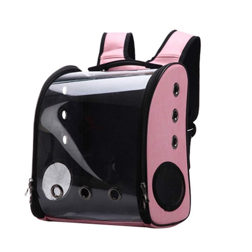 Pet bag Transparent Cat Bag Out Portable Panoramic (Color : Pink) by Pet bag