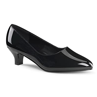 Amazon.com | Womens 2 Inch Heels Classic Pump Black Patent Shoes ...