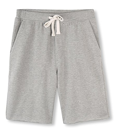 HETHCODE Men's Casual Classic Fit Cotton Elastic Fleece Jogger Gym Shorts Heather Gray XL