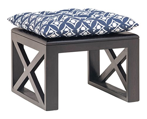 India Covers Goa Solid Wood Stool (Ebony Finish, Brown)