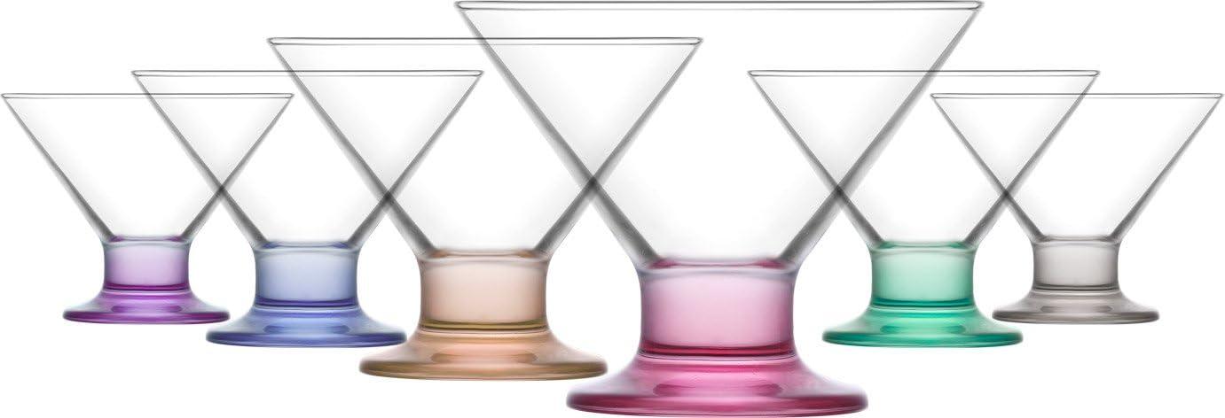 Lav Eisschale Glas Coral Crema 6er Set farbig bunt 165cc
