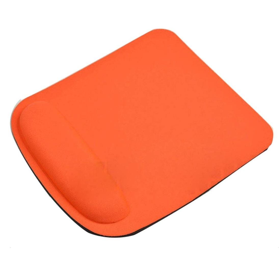Coohole Gel Wrist Rest Support Game Mouse Mat Anti-slip Pad for Computer PC Laptop (Orange 1, A)