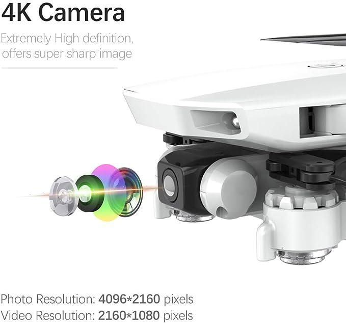 Posicionamiento de Flujo /óptico /& 2 Bater/ía GoolRC CSJ S161 Mini Drone Pro con C/ámara 4K Posicionamiento de Flujo /óptico C/ámara Dual Altitud Hold Gesto Fotos Video 3D FILP RC Quadcopter