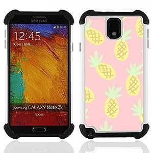 - pineapple drawing cannabis smoke 420/ H??brido 3in1 Deluxe Impreso duro Soft Alto Impacto caja de la armadura Defender - SHIMIN CAO - For Samsung Galaxy Note3 N9000 N9008V N9009
