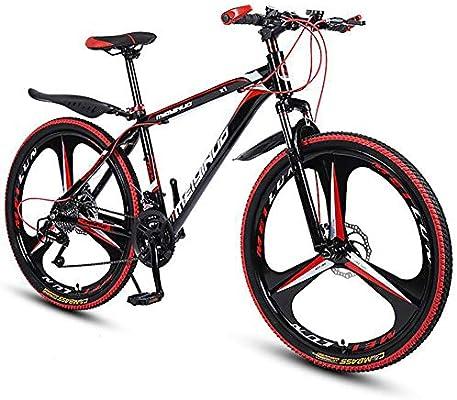 Bicicleta De Montaña Hombre,Adulto Bicicleta De Trekking Doble Freno Disco Mujer,Bicicleta De Carretera Suspensión Delantera 26 Pulgadas Velocidad Adolescentes A 21 Velocidad: Amazon.es: Deportes y aire libre