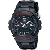 Casio Men's 'G-Shock Magnetic Resistant' Quartz Resin Sport Watch, Color:Black (Model: G-100-1BVMCI)