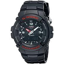 Casio Men's 'G-Shock Magnetic Resistant' Quartz Resin Sport Watch, Color:Black (Model: G-100-1BVMCI