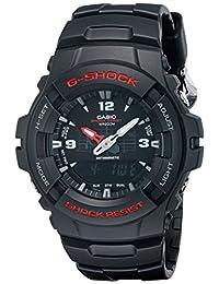 Casio Men's G100-1BV G-Shock Classic Analog-Digital Japanese Quartz Black Watch