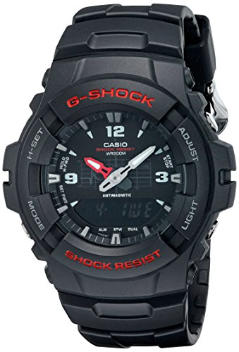 - Casio Men's 'G-Shock Magnetic Resistant' Quartz Resin Sport Watch, Color:Black (Model: G-100-1BVMCI)