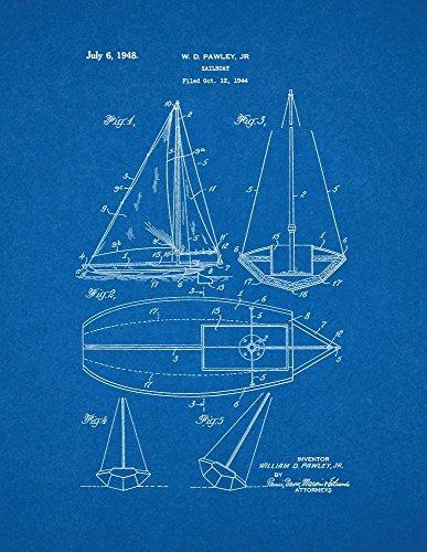 Amazon sailboat patent print art poster blueprint 11 x 14 amazon sailboat patent print art poster blueprint 11 x 14 posters prints malvernweather Gallery
