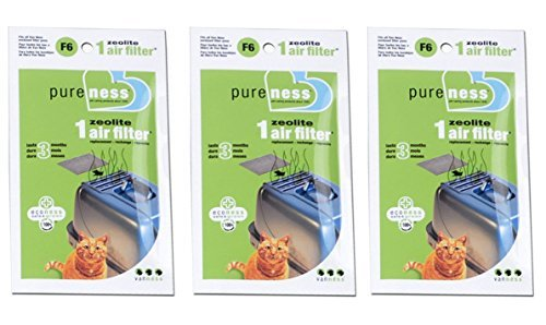 Pureness F6 Zeolite Air Filter (3-Pack)