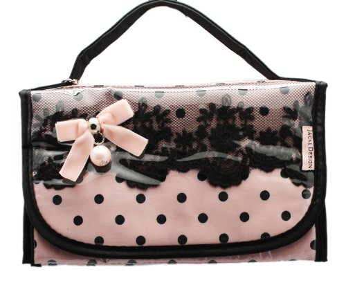 light-pink-and-black-jacki-design-cosmetic-travel-case