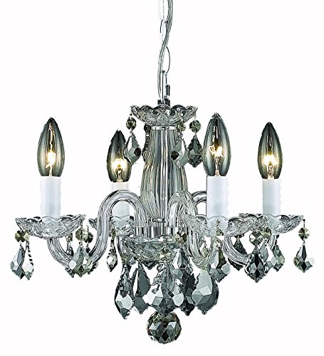 Elegant Lighting Rococo Chandelier, Crystal Clear