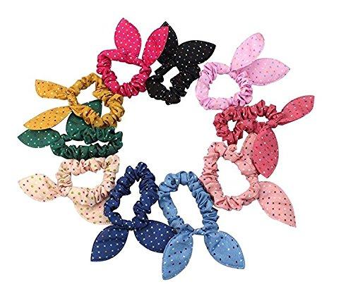 Nicedeal - Diadema para niños y niñas, diseño de flores, 10 unidades, color al azar