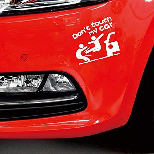JEANGO Pegatinas de Coche Negro Blanco Rojo 5 PCS Dont Touch My Car Coche Graffiti Calcoman/ías para Coches Motocicletas Bicicletas Ventanas Ordenadores Port/átiles