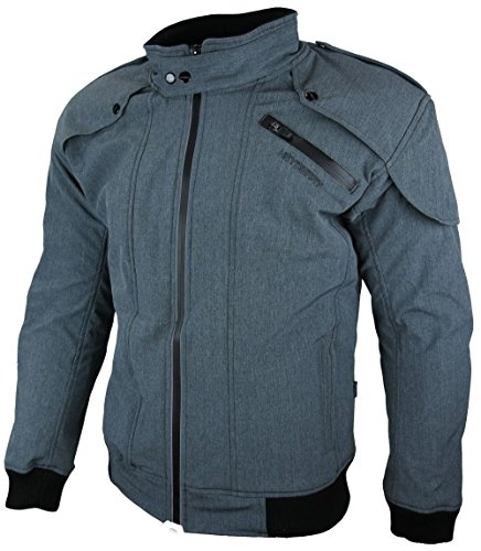 HEYBERRY Soft Shell Motorradjacke Textil Grau meliert Gr. M