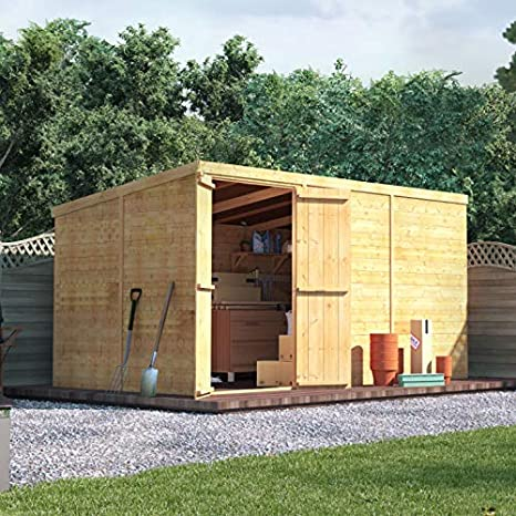 Billyoh 12x6 Tongue And Groove Wooden Shed Windowless Double Door