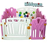 Kiddygem Puzzle and Beep Fun Baby 10 Panels Playpen, Pink