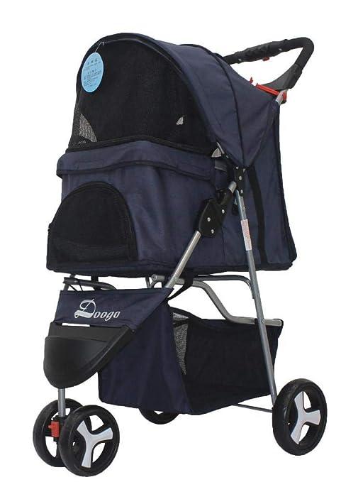 Axiba Cochecito para Mascotas Peso Ligero Plegable Carro Triciclo Oxford Tela pequeño Coche de bebé