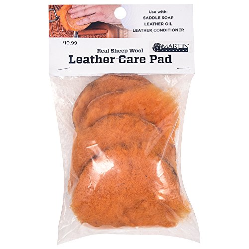 Classic Equine HORSE TACK LEATHER CARE GROOMING OIL PAD WOOLSKIN PACK OF 4