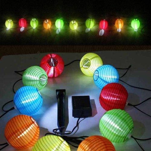 Xmas Mini Solar LED String of Ten Lanterns Light-operated Lantern Lamp Outdoor Home Garden