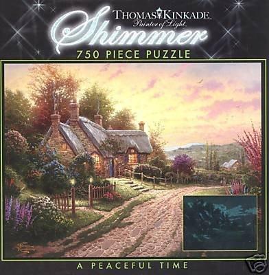 Thomas Kinkade 750 Pc Shimmer Jigsaw Puzzle - Victorian Christmas