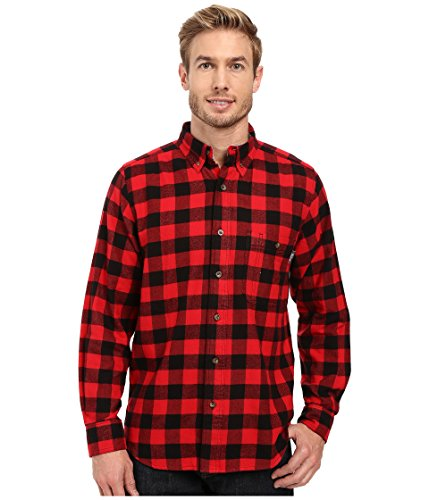 Woolrich Men's Trout Run Flannel Shirt, Red Buffalo Check, Large ()