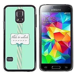 Be Good Phone Accessory // Dura Cáscara cubierta Protectora Caso Carcasa Funda de Protección para Samsung Galaxy S5 Mini, SM-G800, NOT S5 REGULAR! // To Unlock Blue Teal Butterfly T