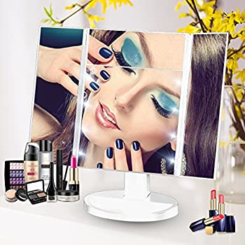 Lifecolor Vanity Makeup Mirror Trifold 8 LED Lighted