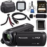 panasonic sd camcorder - Panasonic HC-V380 HC-V380K Full HD Camcorder + Sony 128GB SDXC Card + Lens Cleaning Kit + Flexible Tripod + Carrying Case + Memory Card Wallet + Card Reader + Mini HDMI Cable + LED Light Bundle