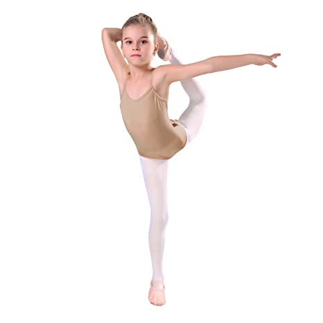 0db77387d11 iMucci Professional Seamless Nude Camisole Leotard Undergarment Dancewear  for Gymnastics and Ballet Dance with Adjustable Straps