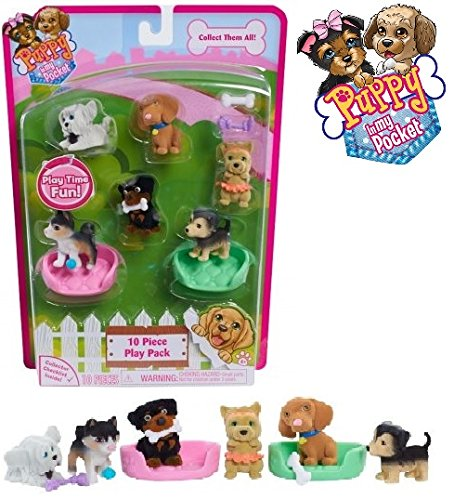 Amazoncom New Puppy In My Pocket 10 Piece Play Pack Style 3