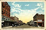 Oak Avenue Looking North Mineral Wells, Texas Original Vintage Postcard