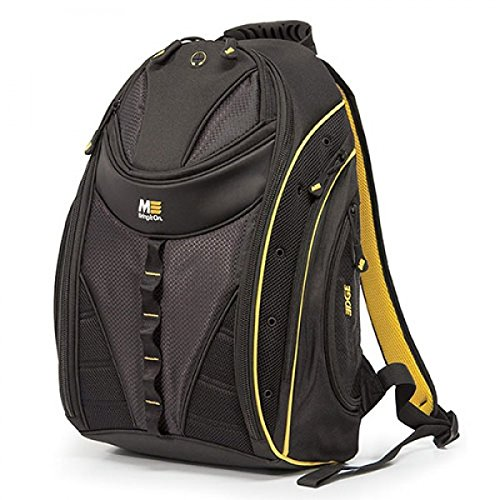 Mobile Edge Black w Yellow Trim Express Laptop Backpack 2.0 16 Inch PC, 17 Inch Mac for Men, Women, Students MEBP42