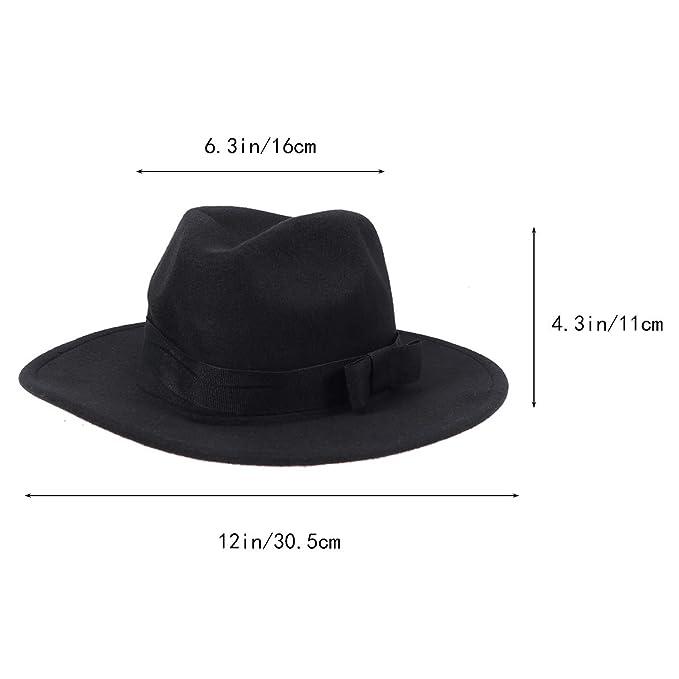 OULII Cappello unisex classico Fedora cappello da sole cappello da sole per  uomo donna (nero)  Amazon.it  Abbigliamento 5f6c027e367a