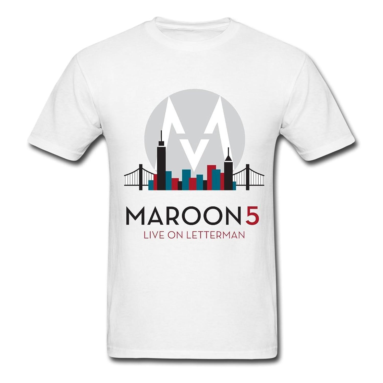 YOE Maroon 5 Art cartoon logo Men's Tee L